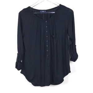 Gap Black Loose Fit Tunic Top